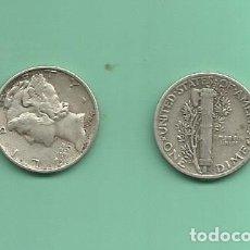 Monedas antiguas de América: MONEDA DE PLATA DIME 1944 MONEDA DE 2,5 GRAMOS DE LEY 0,900. Lote 176532757