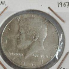 Monedas antiguas de América: ESTADOS UNIDOS 1/2 $ 1967 FISHERAL KENNEDY. Lote 176584525