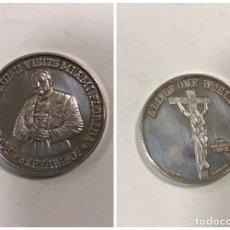 Monedas antiguas de América: MONEDA PAPA JUAN PABLO II. VISITA A MIAMI Y FLORIDA EN 1987. PLATA FINA. 1 TROY OZ. . Lote 176622688