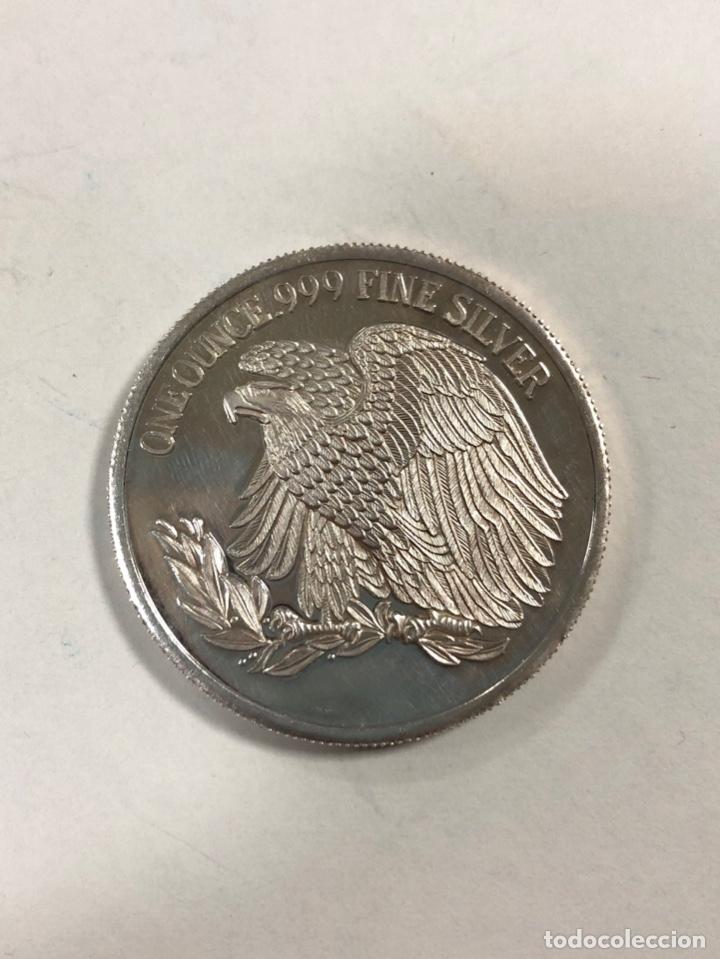 Monedas antiguas de América: ESTADOS UNIDOS. MONEDA DE PLATA. UNA ONZA DE PLATA. ONE OUNCE .999 FINE SILVER. - Foto 2 - 176629012