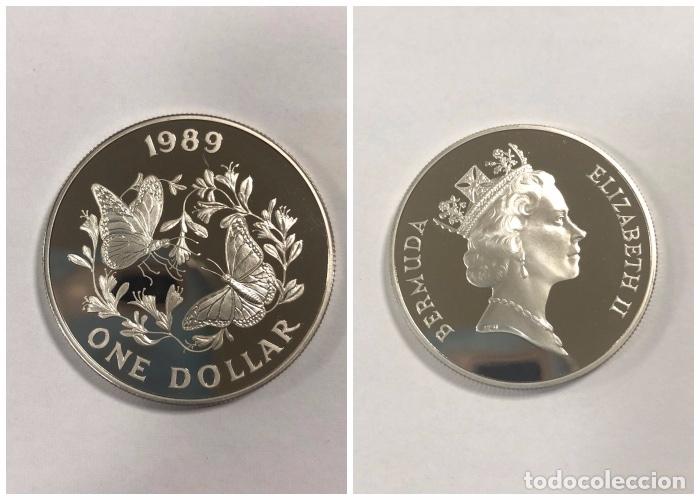 BERMUDAS. UN DOLAR. AÑO 1989. PLATA. S/C. 28.1 GR. (Numismática - Extranjeras - América)