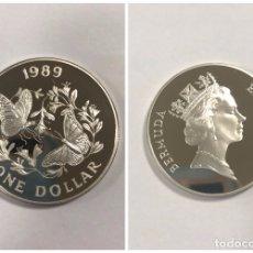 Monedas antiguas de América: BERMUDAS. UN DOLAR. AÑO 1989. PLATA. S/C. 28.1 GR.. Lote 176721539