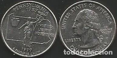 E.E.U.U. 1999 P - 25 CENTS (QUARTER DOLLAR) - KM 294 - CIRCULADA (Numismática - Extranjeras - América)