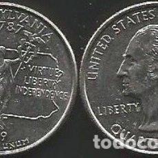Monedas antiguas de América: E.E.U.U. 1999 P - 25 CENTS (QUARTER DOLLAR) - KM 294 - CIRCULADA. Lote 177074983