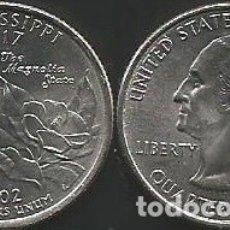 Monedas antiguas de América: E.E.U.U. 2002 P - 25 CENTS (QUARTER DOLLAR) - KM 335 - CIRCULADA. Lote 177075130