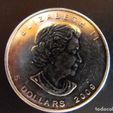Monedas antiguas de América: CANADA. 1 ONZA DE PLATA. 2009. 5 DÓLARES.. Lote 177405920