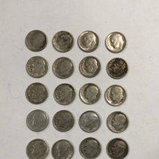 Monedas antiguas de América: LOTE DE 21 DIME. INCLUYE MONEDAS DEL AÑO 1946 AL 1964. LEER Y VER FOTOS. . Lote 177558994