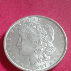 Monedas antiguas de América: ESTADOS UNIDOS - 1 DOLAR MORGAN - 1887- PLATA - E.B.C++. Lote 177881254