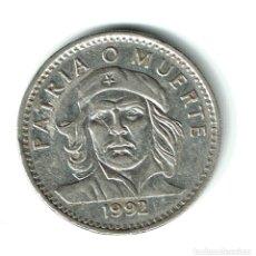 Monedas antiguas de América: CUBA 3 PESOS 1992 PATRIA O MUERTE CHE GUEVARA. Lote 178594921
