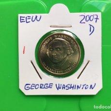 Monedas antiguas de América: C-20 )EEUU,,1 DÓLAR,,PRESIDENTES,,2007,,D,,GEORGE WASHINGTON,,NUEVA SIN CIRCULAR. Lote 139420054