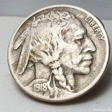Monedas antiguas de América: BÚFALO NIKEL 1918. Lote 179053383