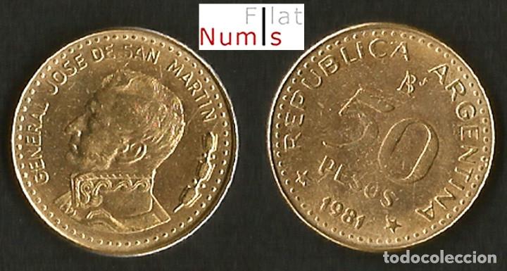 ARGENTINA - 50 Y 100 PESOS - 1981 - E.B.C. (Numismática - Extranjeras - América)