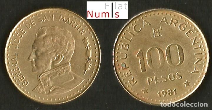 Monedas antiguas de América: ARGENTINA - 50 Y 100 PESOS - 1981 - E.B.C. - Foto 2 - 179073615