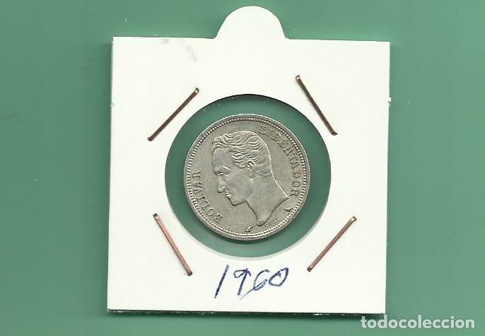 PLATA-VENEZUELA: 1 BOLIVAR 1960. 5 GRAMOS DE LEY 0,835. MBC (Numismática - Extranjeras - América)
