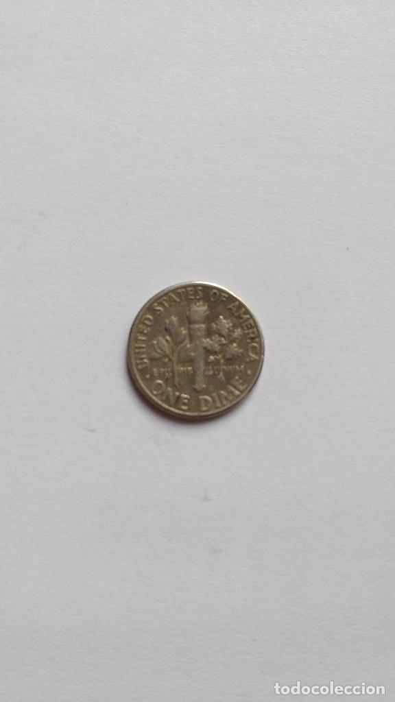 Monedas antiguas de América: EEUU One Dime de Plata 1957 - Foto 2 - 179149158