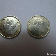 Monedas antiguas de América: 2 MONEDAS. 25 CÉNTIMOS. PLATA. AÑO 1954 Y 1948. REPÚBLICA DE VENEZUELA. Lote 179229196