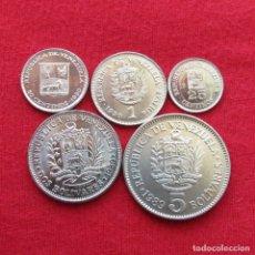 Monedas antiguas de América: VENEZUELA SERIE 25 50 CENTAVOS 1 2 5 BOLIVAR 1989 1990. Lote 179246563