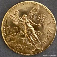 Monedas antiguas de América: MONEDA 50 PESOS MEXICANOS, 37,50 GRAMOS DE ORO PURO. Lote 180006597