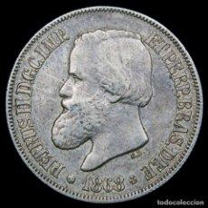 Monedas antiguas de América: BRASIL 500 REIS 1868 PEDRO II PLATA (8400). Lote 180267765