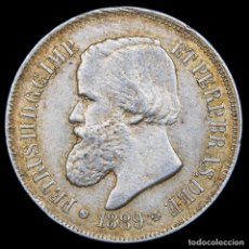 Monedas antiguas de América: BRASIL 500 REIS 1889 PEDRO II PLATA (8401) DECRETO DE 1870. Lote 180268757