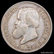 Monedas antiguas de América: BRASIL 500 REIS 1868 PEDRO II PLATA (8402). Lote 180269032