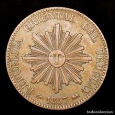 Monedas antiguas de América: URUGUAY - 20 CENTÉSIMOS REPÚBLICA ORIENTAL DEL URUGUAY 1857 D LYON. Lote 180270287