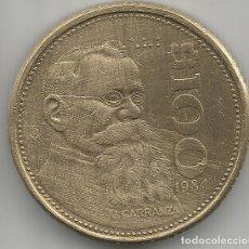 Monedas antiguas de América: ESTADOS UNIDOS MEXICANOS MONEDA DE 100 PESOS AÑO 1984 CARRANZA CIRCULADA. Lote 181073631