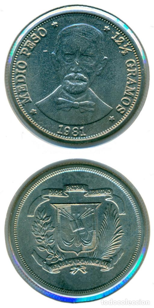 REPÚBLICA DOMINICANA 1/2 MEDIO PESO - 12 1/2 GRAMOS 1981 ( SC- ) KM # 52 (Numismática - Extranjeras - América)