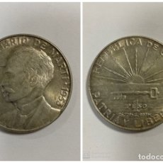 Monedas antiguas de América: CUBA. 1 PESOS. MONEDA DE PLATA - 0.900 - 26.72 GR. CUMBRE. AÑO 1953. CENTENARIO DE MARTI.. Lote 181154660
