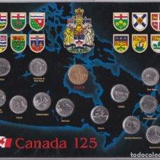 Monedas antiguas de América: ESTUCHE CON 13 MONEDAS DE CANADA DEL AÑO 1992 SIN CIRCULAR - 125 ANIVERSARIO. Lote 181499727