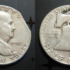 Monedas antiguas de América: USA. HALF DOLLAR 1951. ERROR.. Lote 181852093