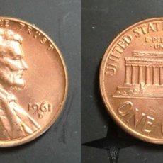 Monedas antiguas de América: USA ONE CENT 1961 D. ERROR. Lote 181979675