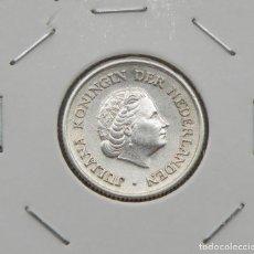 Monedas antiguas de América: ANTILLAS HOLANDESAS 1/4 GULDEN 1956. PLATA. EXCELENTE. Lote 182228638