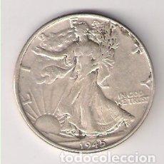 Monedas antiguas de América: MONEDA DE MEDIO (1/2) DÓLAR DE ESTADOS UNIDOS DE 1945. PLATA. BC. (ME1244). Lote 182281817