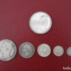 Monedas antiguas de América: LOTE DE SEIS MONEDAS DE PLATA DE LEY DE VENEZUELA.. Lote 182295180