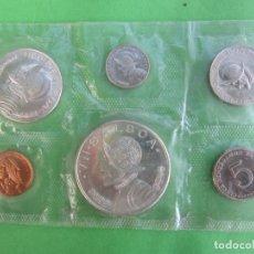 Monedas antiguas de América: REPUBLICA DE PANAMA 1966 , SET COMPLETO DE 6 MONEDAS DE BALBOA , PLATA. Lote 182529640