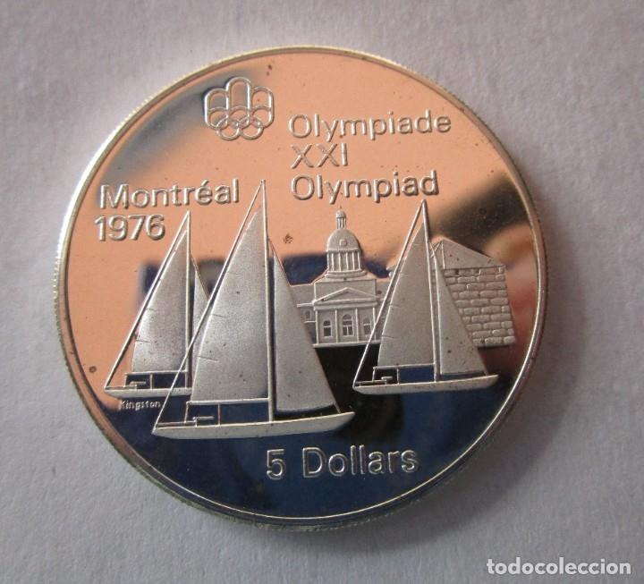 CANADA 1973 . 5 DOLARES DE PLATA . XXI OLIMPIADA DE MONTREAL .TOTALMENTE NUEVA (Numismática - Extranjeras - América)