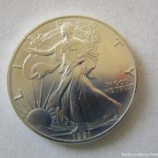 Monedas antiguas de América: ESTADOS UNIDOS . 1 DOLAR DE PLATA PURA . AÑO MUY ANTIGUO 1991 . EXTRAORDINARIAMENTE NUEVA. Lote 182782857