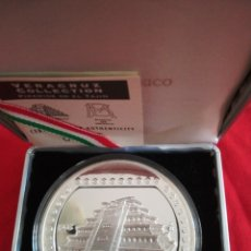 Monedas antiguas de América: 10 NEW DOLLARS MEXICO 1993 PIRAMIDE DE EL TAJIN PLATA 999 5 OZ (155,51GR) PROOF. Lote 182984621