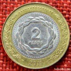 Monnaies anciennes d'Amérique: ARGENTINA – 2 PESOS – 2011 – EN UNIÓN Y LIBERTAD. Lote 182991188