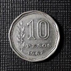 Monedas antiguas de América: ARGENTINA 10 PESOS 1967 KM60. Lote 183006068
