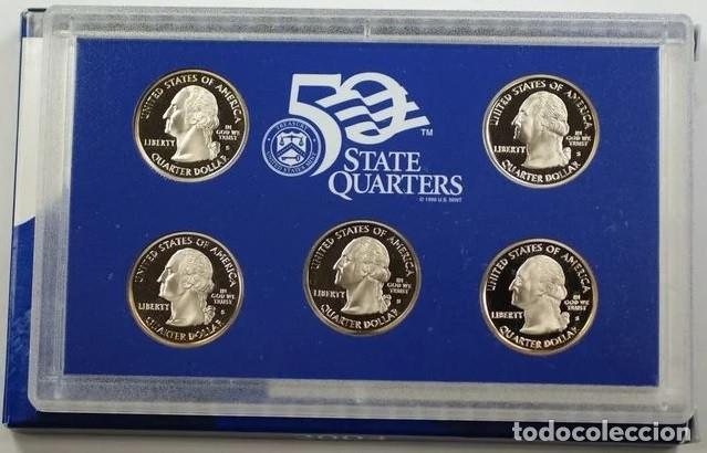 Monedas antiguas de América: ESTADOS UNIDOS 2000 US MINT 5 COIN STATE QUARTER PROOF SET - Foto 3 - 183033975