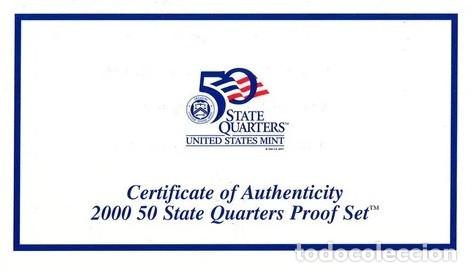Monedas antiguas de América: ESTADOS UNIDOS 2000 US MINT 5 COIN STATE QUARTER PROOF SET - Foto 4 - 183033975