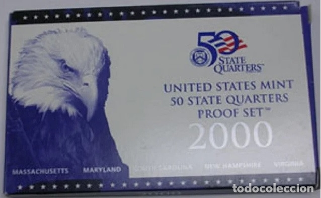 Monedas antiguas de América: ESTADOS UNIDOS 2000 US MINT 5 COIN STATE QUARTER PROOF SET - Foto 5 - 183033975