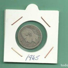 Monedas antiguas de América: PLATA-VENEZUELA: 1 BOLIVAR 1945. 5 GRAMOS DE LEY 0,835. MBC. Lote 183196925
