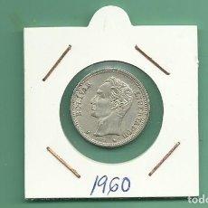 Monedas antiguas de América: PLATA-VENEZUELA: 1 BOLIVAR 1960 5 GRAMOS DE LEY 0,835. MBC. Lote 183198763