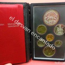 Monedas antiguas de América: CANADA 1980. ESTUCHE OFICIAL 7 MONEDAS. PERFECTA CONSERVACIÓN. Lote 183277870