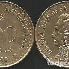 Monedas antiguas de América: ARGENTINA 1980 - 100 PESOS - KM 85A - CIRCULADA EBC. Lote 183475377