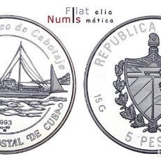 Monedas antiguas de América: CUBA - 5 PESOS - 1993 - PROOF - PLATA 0'999. Lote 183497868