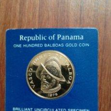 Monedas antiguas de América: 100 BALBOAS PANAMÁ 1975 ORO PROOF. Lote 183547456